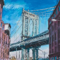 Bob Dylan Art Paintings MANHATTAN BRIDGE New York