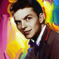 Frank Sinatra Portrait by Peter Max New York Artist