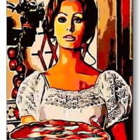 Sophia Loren and Pizza